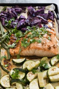 One Sheet Pan Asian Salmon and Veggies