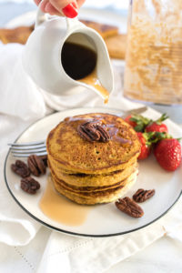 Sweet Potato Oat Blender Pancakes