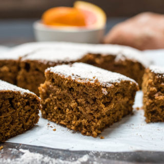 Gingerbread meets sweet potato in this snack cake filled with high fiber and nutritious whole grains.