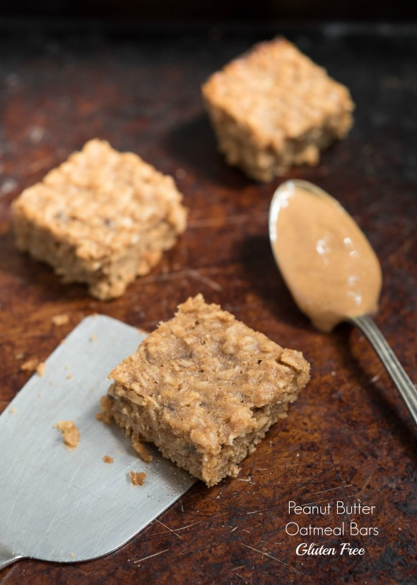 Peanut Butter Oatmeal Bars Gluten Free Nutritious Eats